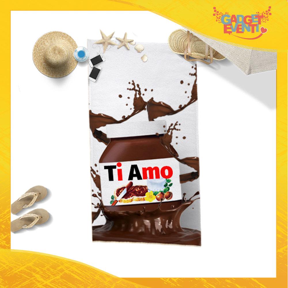 """Telo Mare Personalizzato """"Ti Amo Cioccolato"""" San Valentino Gadget Eventi"""