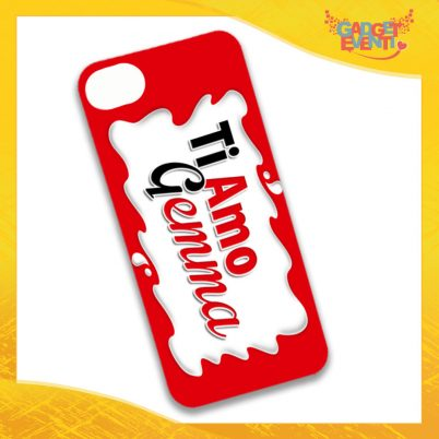 """Cover Smartphone Cellulare Tablet """"Ti Amo con Nome Bar"""" San Valentino Gadget Eventi"""