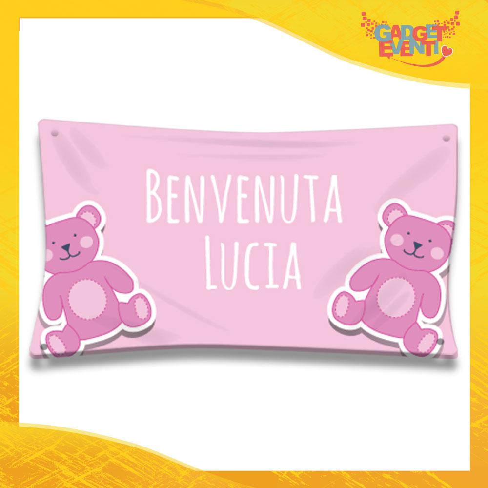 """Striscione Bambino Femminuccia Neonato """"Orsacchiotti"""" Baby Gadget Eventi"""