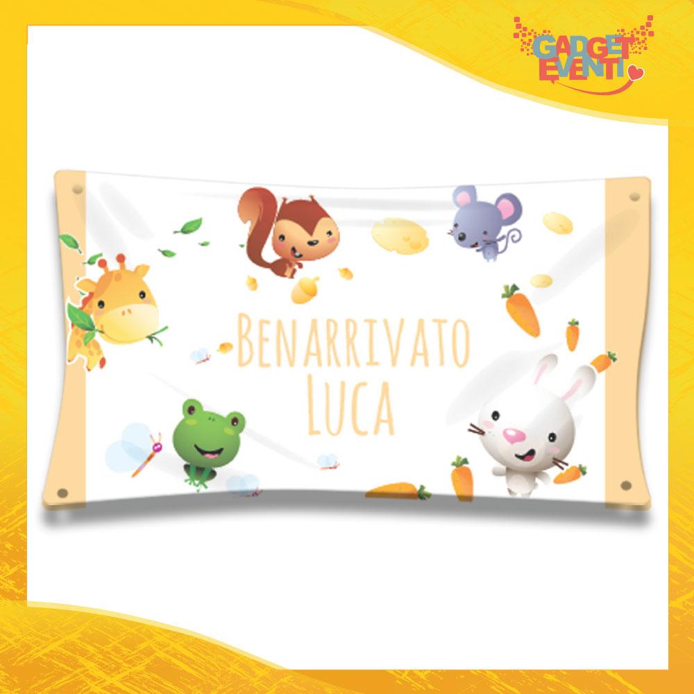 """Striscione Bambino Neonato """"Mondo Animale"""" Baby Gadget Eventi"""