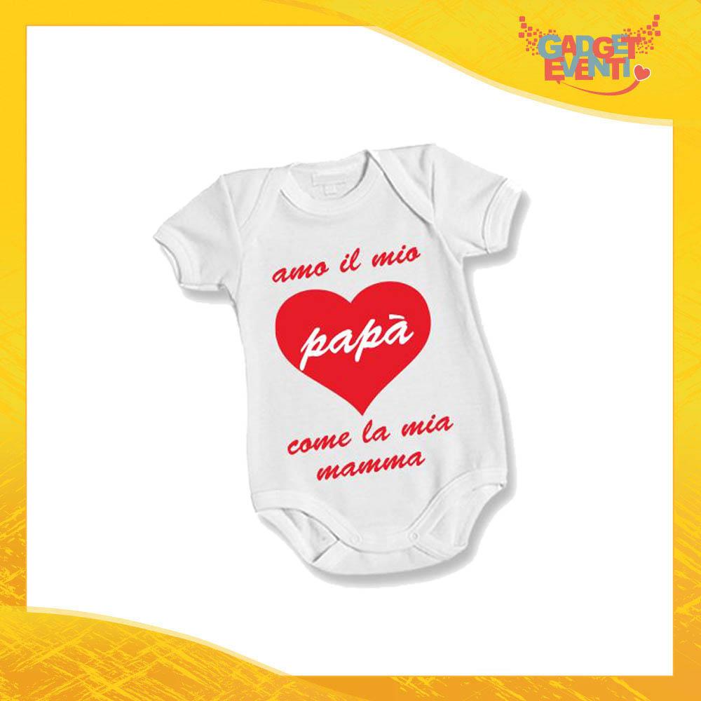 """Body Bimbo Neonato Bodino """"Amo il mio Papà"""" Festa del Papà Idea Regalo Gadget Eventi"""