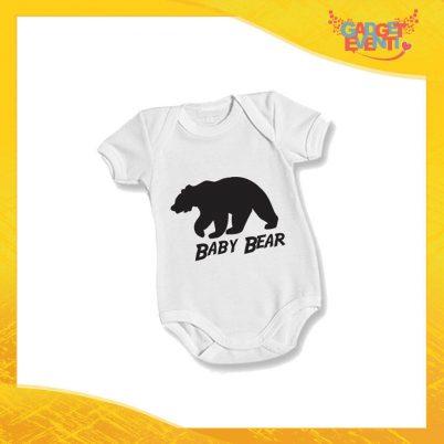"""Body Bimbo Neonato Bodino """"Baby Bear"""" Festa del Papà Idea Regalo Gadget Eventi"""