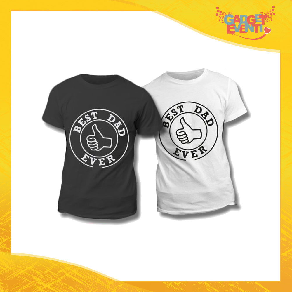"Maglietta T-Shirt Regalo Festa del Papà ""Best Dad Ever"" Gadget Eventi"