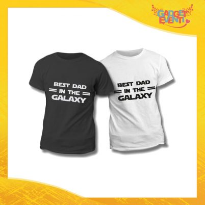 "Maglietta T-Shirt Regalo Festa del Papà ""Best Dad Galaxy"" Gadget Eventi"