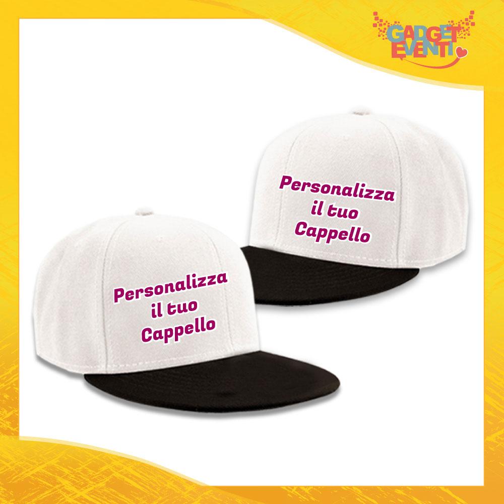 Personalizza la tua Coppia di Cappelli Ricamati Berretti Snapback Visiera Larga Gadget Eventi