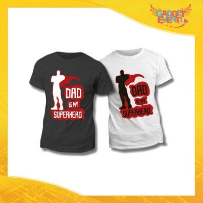 "Maglietta T-Shirt Regalo Festa del Papà ""Dad is My Superhero"" Gadget Eventi"