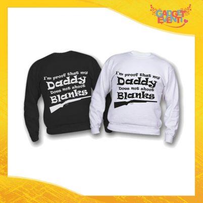 """Felpa Bimbo """"Daddy Blanks"""" Idea Regalo Festa del Papà Gadget Eventi"""