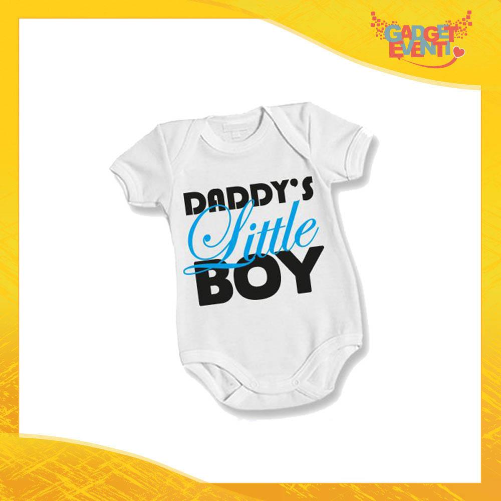 """Body Bimbo Maschietto Neonato Bodino """"Daddy's Little Boy"""" Festa del Papà Idea Regalo Gadget Eventi"""