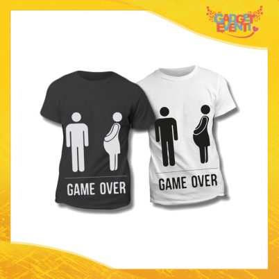 "Maglietta T-Shirt Regalo Festa del Papà ""Game Over Omino"" Gadget Eventi"