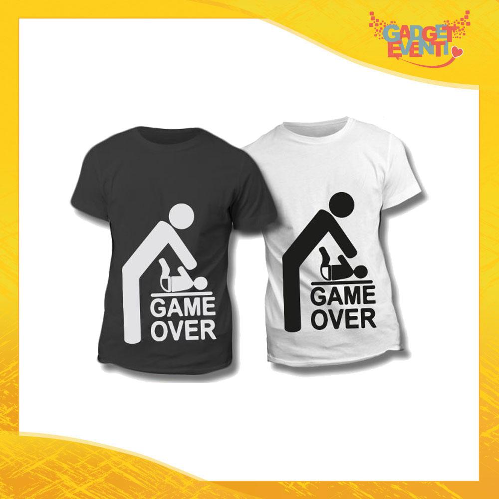 """Maglietta T-Shirt Regalo Festa del Papà """"Game Over"""" Gadget Eventi"""