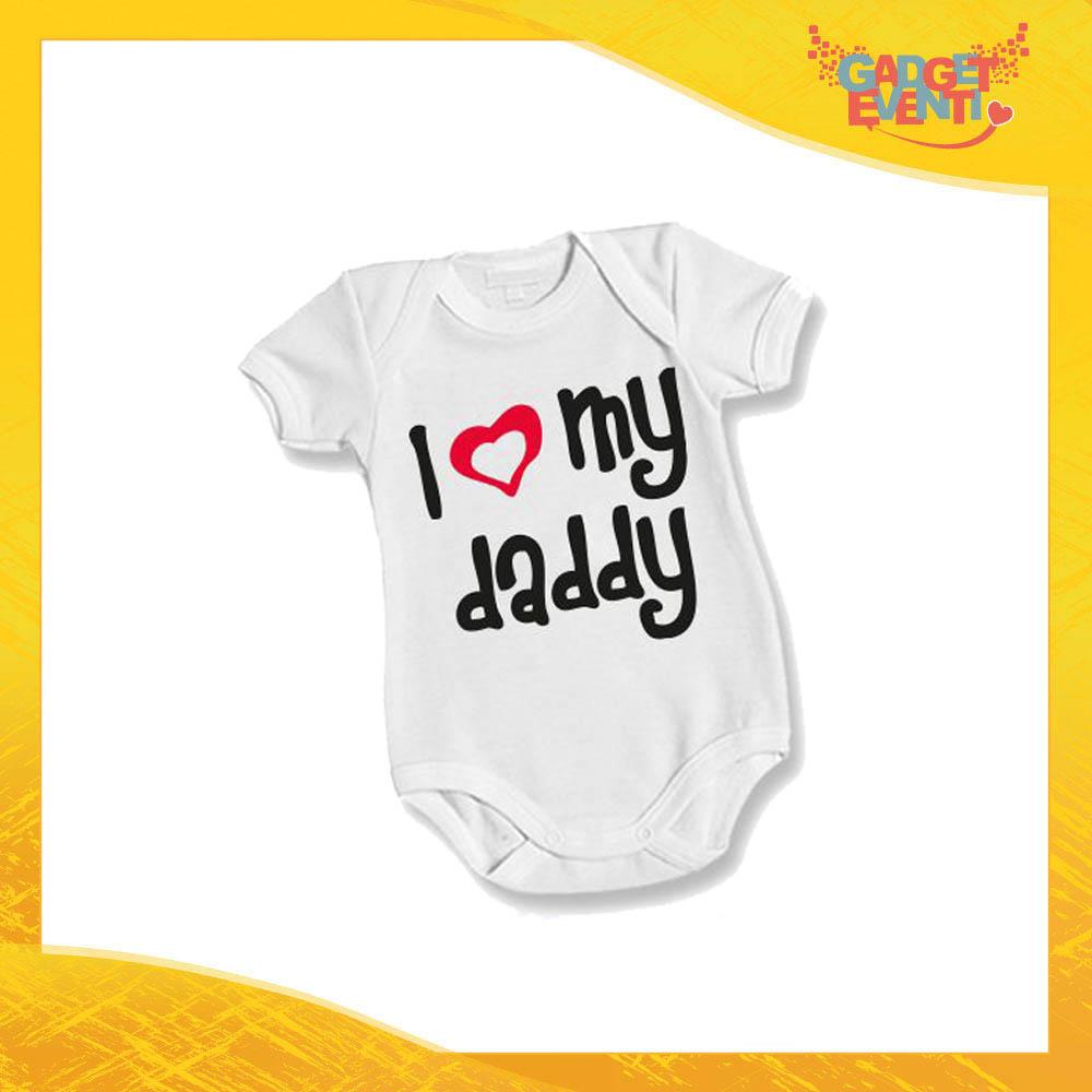 """Body Bimbo Neonato Bodino """"Love My Daddy"""" Festa del Papà Idea Regalo Gadget Eventi"""
