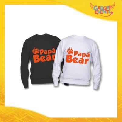 "Felpa ""Papà Bear Impronta"" Idea Regalo Originale Festa del Papà Gadget Eventi"