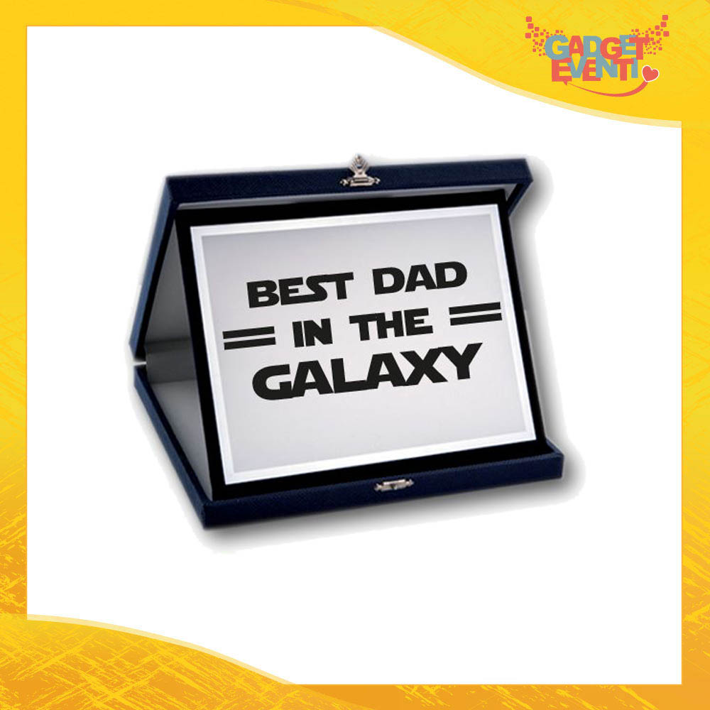 "Targa Decorativa ""Best Dad Galaxy"" Idea Regalo Festa del Papà Gadget Eventi"