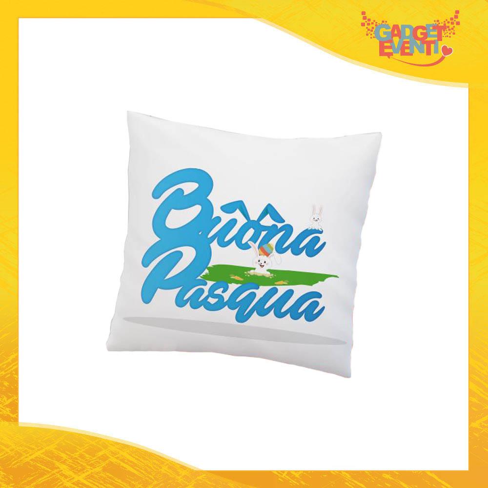 """Cuscino Quadrato Maschietto """"Bunny Games"""" Idea Regalo Pasquale Pasqua Gadget Eventi"""