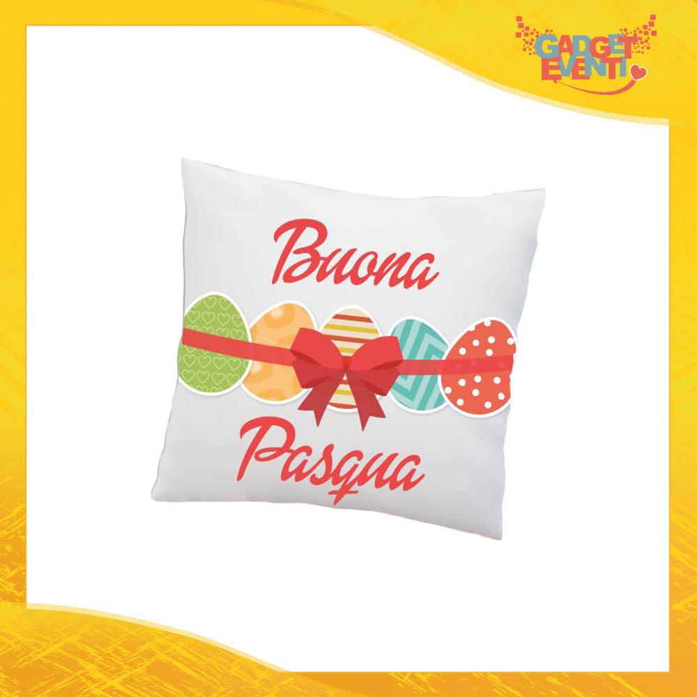 """Cuscino Quadrato Femminuccia """"Buona Pasqua Uova"""" Idea Regalo Pasquale Pasqua Gadget Eventi"""