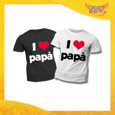 """T-Shirt Bimbo """"Love Papà"""" Idea Regalo Bambino Festa del Papà Gadget Eventi"""