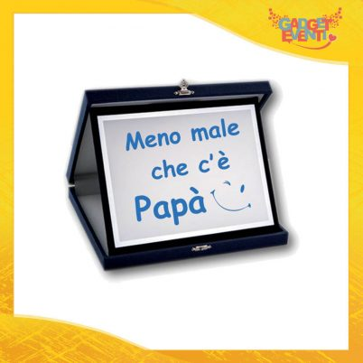 """Targa Decorativa Maschietto """"Meno Male che c'è Papà"""" Idea Regalo Festa del Papà Gadget Eventi"""