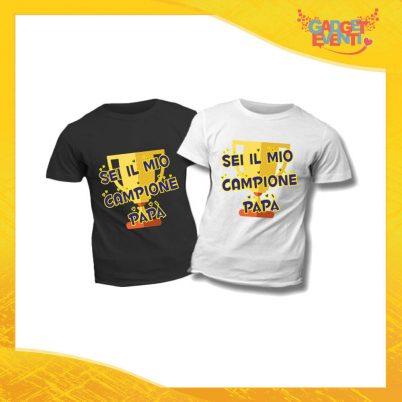 """T-Shirt Bimbo """"Sei il Mio Campione"""" Idea Regalo Bambino Festa del Papà Gadget Eventi"""