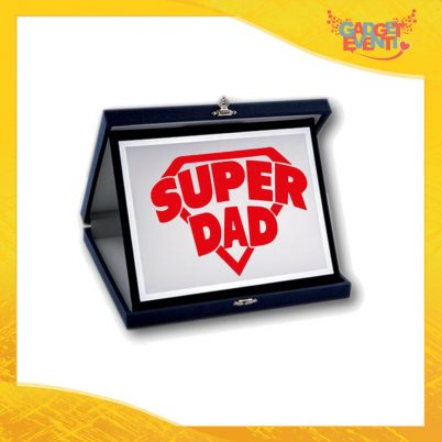 "Targa Decorativa ""Super Dad"" Idea Regalo Festa del Papà Gadget Eventi"
