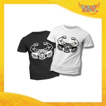 """T-Shirt Bimbo """"Super Papà Cintura"""" Idea Regalo Bambino Festa del Papà Gadget Eventi"""