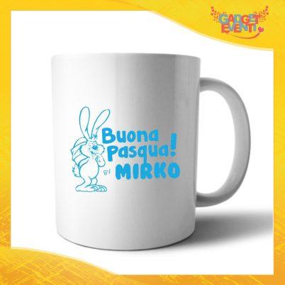 """Tazza per la Colazione Maschietto """"Buona Pasqua Coniglio"""" Mug Idea Regalo Pasquale Pasqua Gadget Eventi"""