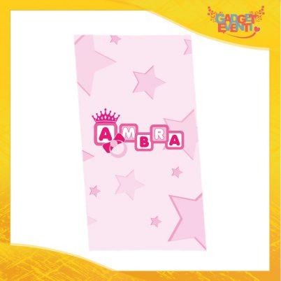 """Telo Mare Personalizzato Femminuccia """"Corona Anello"""" Asciugamani Spiaggia Gadget Eventi"""