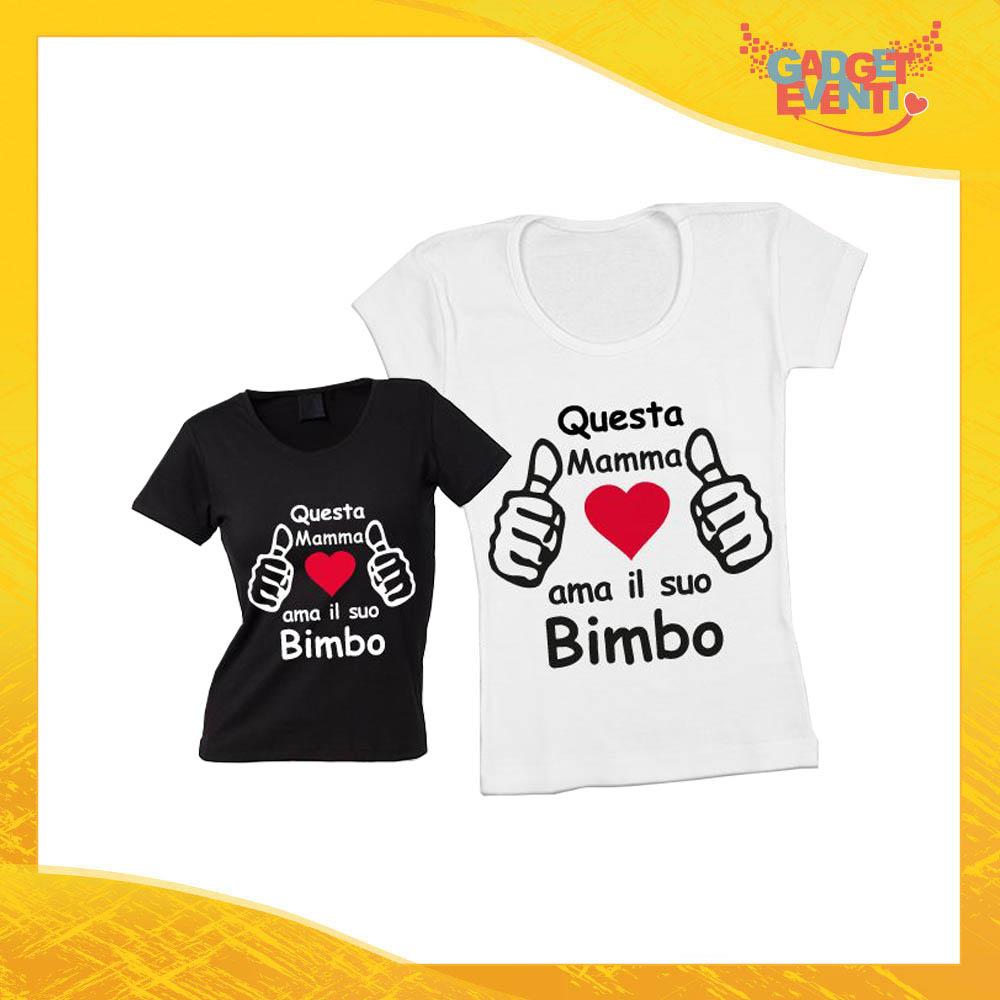 """Maglietta, t-shirt idea regalo festa della mamma maschietto """"Ama i suoi bimbi"""" - Gadget Eventi"""""""