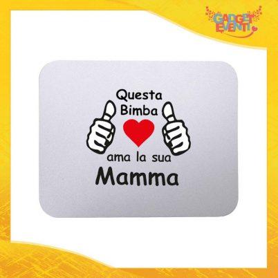 """Mouse Pad femminuccia """"Ama sua Madre"""" tappetino pc ufficio idea regalo festa della mamma gadget eventi"""