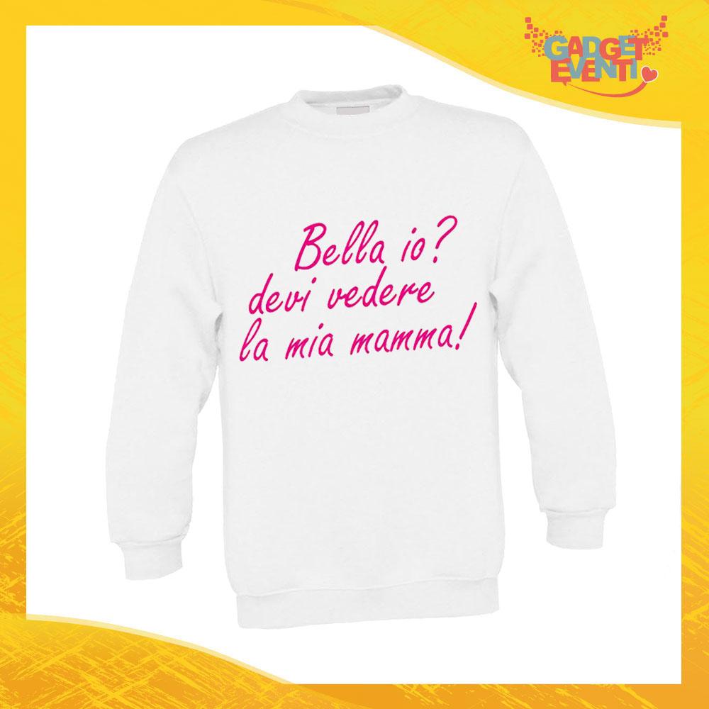 """Felpa Bimbo femminuccia """"Bello Bella io"""" bambino bambina bimbi idea regalo festa della mamma gadget eventi"""