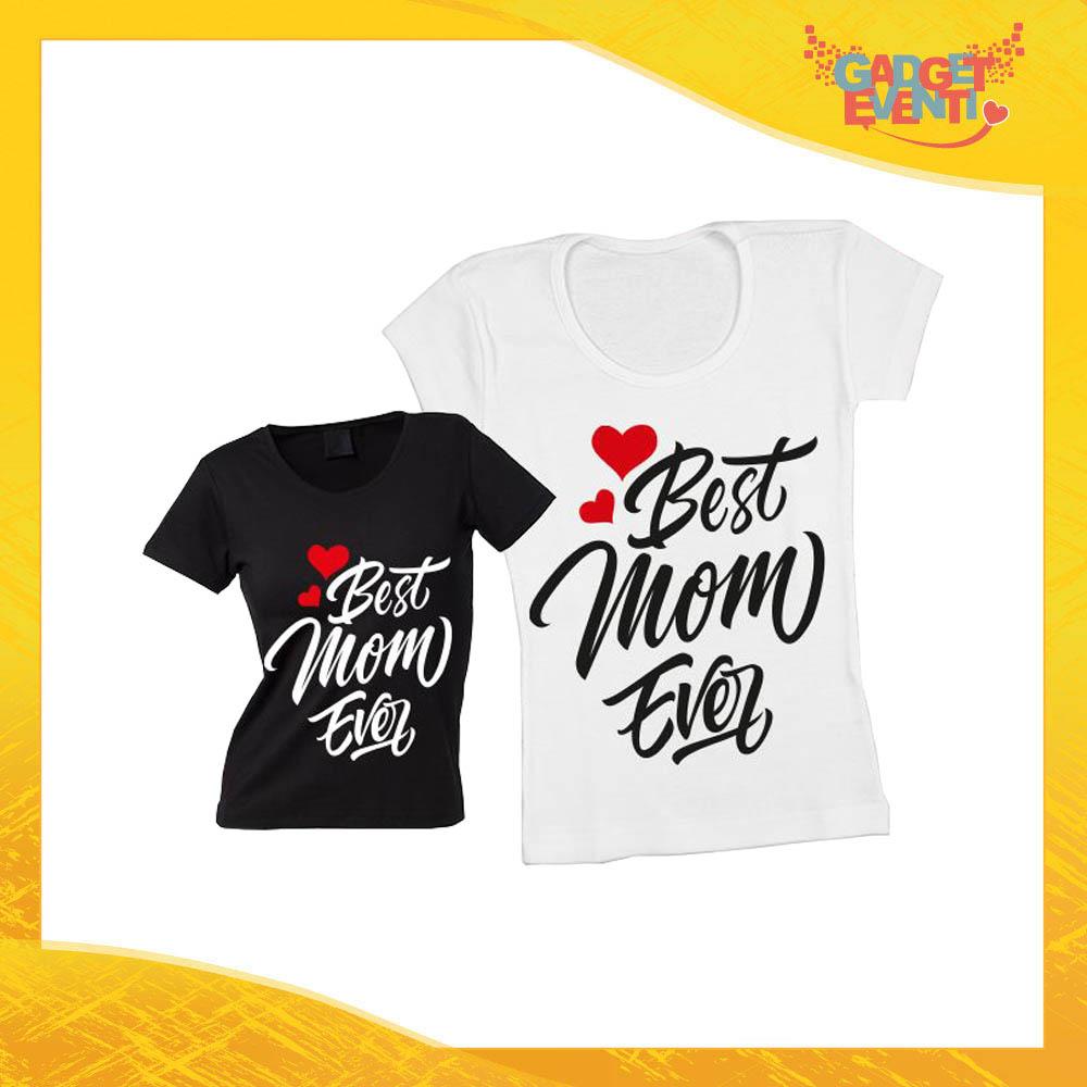 """Maglietta, t-shirt idea regalo festa della mamma """"Best Mom Ever"""" - Gadget Eventi"""