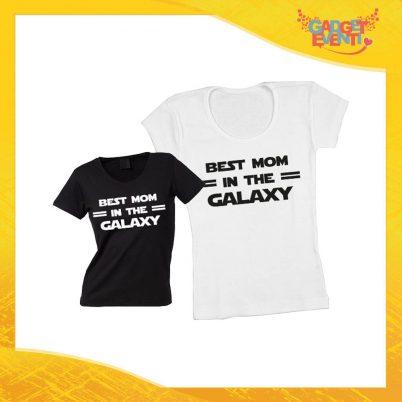 """Maglietta, t-shirt idea regalo festa della mamma """"Best Mom Galaxy"""" - Gadget Eventi"""