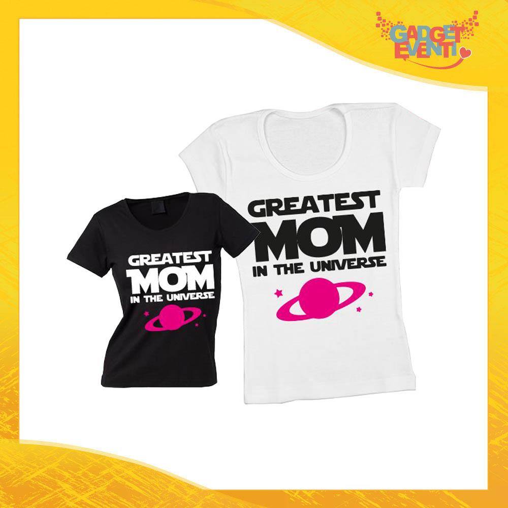 """Maglietta, t-shirt idea regalo festa della mamma femminuccia """"Greatest Mom Universe"""" - Gadget Eventi"""""""