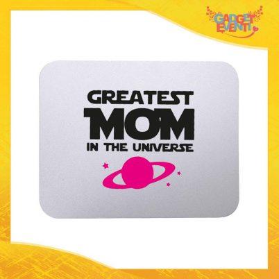 """Mouse Pad femminuccia """"Greatest Mom Universe"""" tappetino pc ufficio idea regalo festa della mamma gadget eventi"""