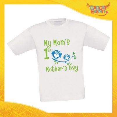 """Maglietta Bambino Bambina """"Gufini"""" Idea Regalo T-shirt Festa della Mamma Gadget Eventi"""