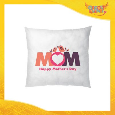 "Cuscino Quadrato ""Happy Mother's Day"" Idea Regalo Festa della Mamma Gadget Eventi"