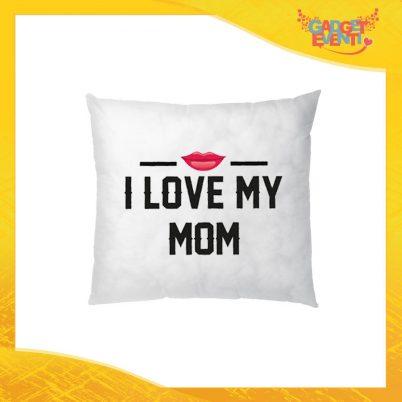 """Cuscino Quadrato """"I Love My Mom"""" Idea Regalo Festa della Mamma Gadget Eventi"""