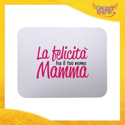 """Mouse Pad femminuccia """"La felicità ha il tuo nome"""" tappetino pc ufficio idea regalo festa della mamma gadget eventi"""