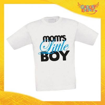 """Maglietta Bambino Bambina """"Mom's Little"""" Idea Regalo T-shirt Festa della Mamma Gadget Eventi"""