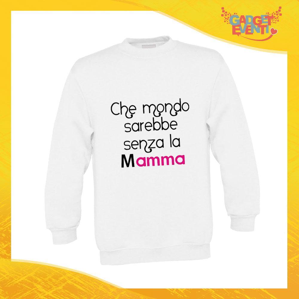 """Felpa Bimbo Femminuccia """"Mondo senza Madre"""" Bambino Bambina Bimbi Idea Regalo Festa della Mamma Gadget Eventi"""