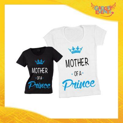 """Maglietta, t-shirt idea regalo festa della mamma maschietto """"Mother Prince Princess"""" - Gadget Eventi"""