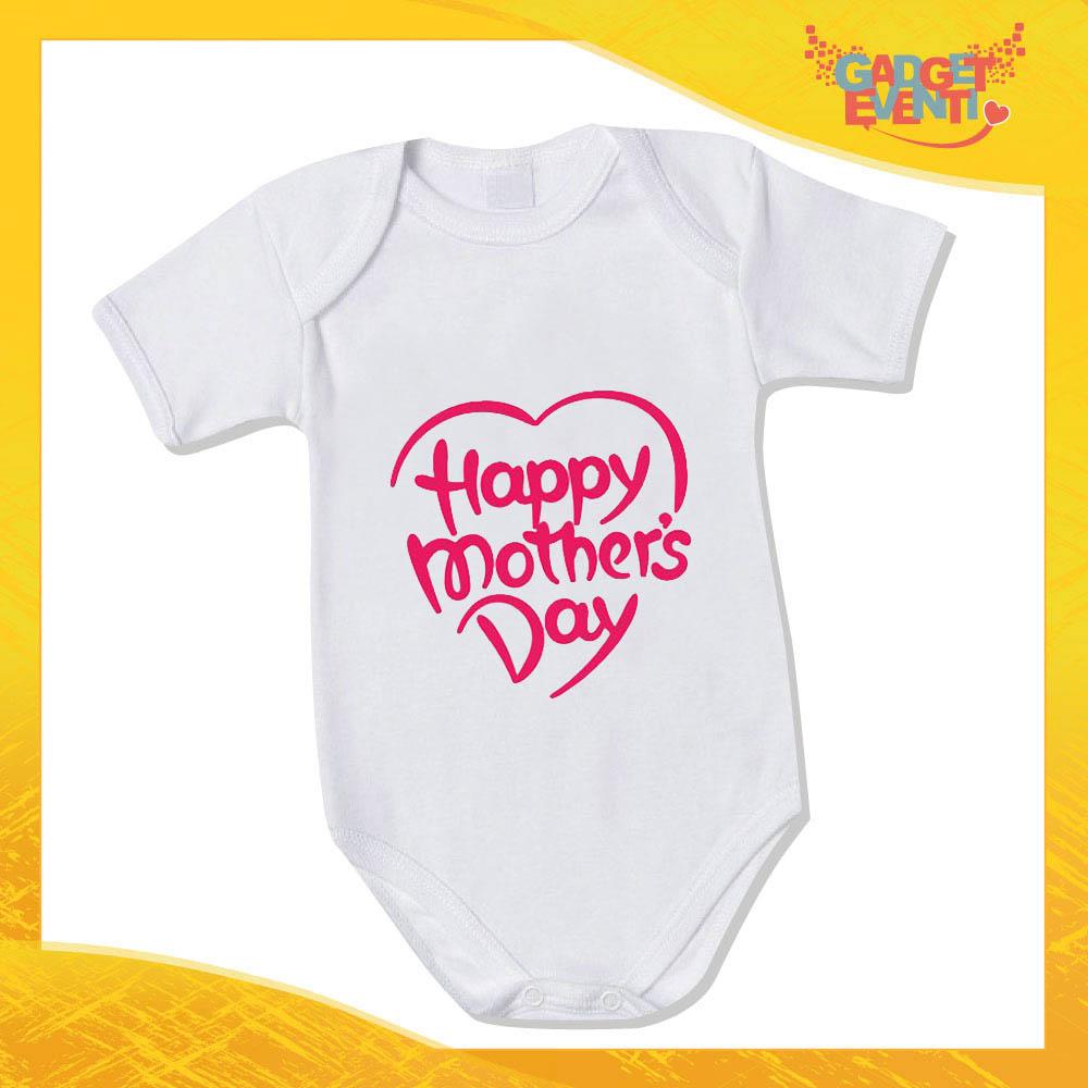 """Bodino Femminuccia """"Mother's Day"""" body bimbo Idea Regalo Festa della Mamma Gadget Eventi"""