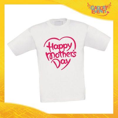 """Maglietta Bambino Bambina """"Mother's Day"""" Idea Regalo T-shirt Festa della Mamma Gadget Eventi"""