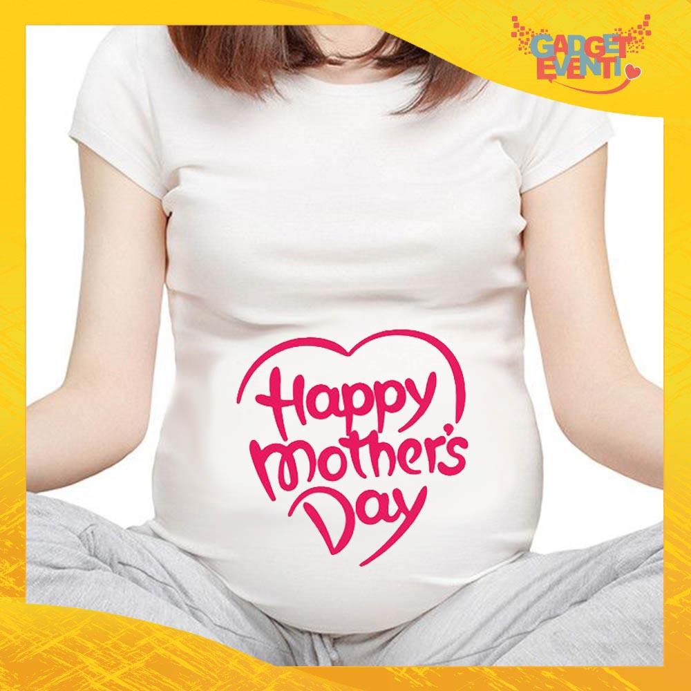 """T-shirt Premaman Bianca Femminuccia """"Mother's Day"""" idea regalo festa della mamma gadget eventi"""