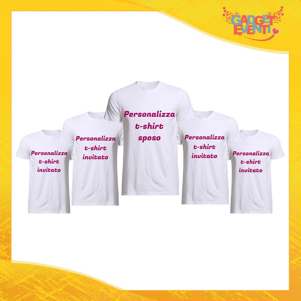 Componi il tuo Pacchetto di T-Shirt Uomo Bianche Personalizzate per Addii al Celibato Magliette Maglie Divertimento Feste Hot Sposo Gadget Eventi