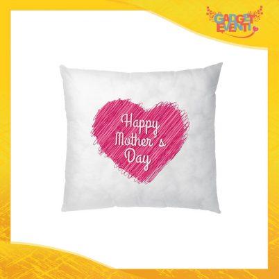 """Cuscino Quadrato """"Pink Heart"""" Idea Regalo Festa della Mamma Gadget Eventi"""