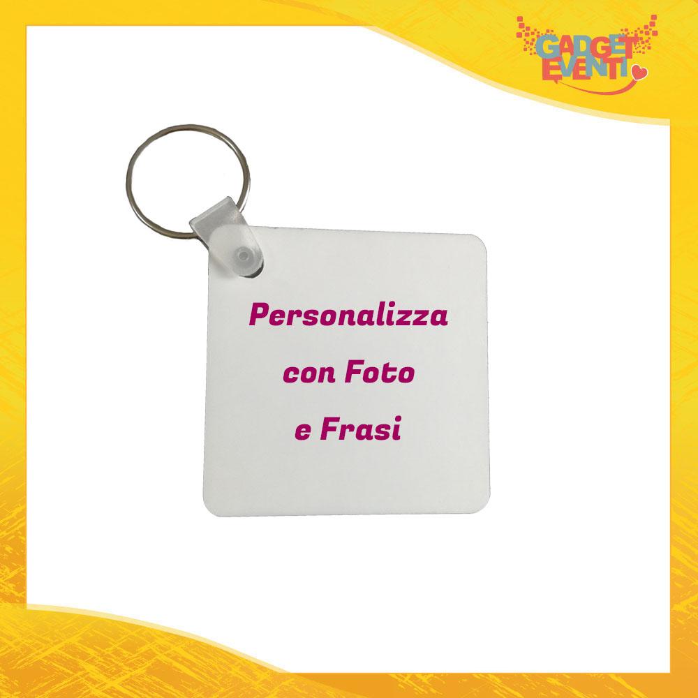 Personalizza il tuo Portachiavi Quadrato con Foto e Frasi Gadget Eventi
