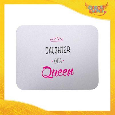"""Mouse Pad femminuccia """"Son Daughter Queen"""" tappetino pc ufficio idea regalo festa della mamma gadget eventi"""