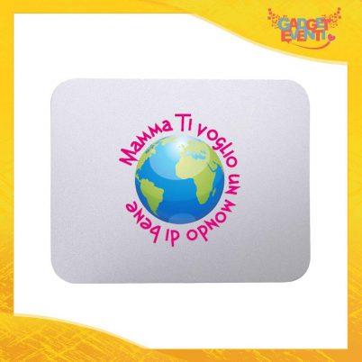 """Mouse Pad femminuccia """"Un Mondo di Bene"""" tappetino pc ufficio idea regalo festa della mamma gadget eventi"""