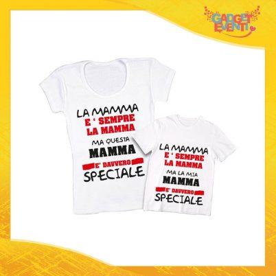 """Coppia t-shirt bianca bambino """"Una Madre Speciale"""" madre figli idea regalo festa della mamma gadget eventi"""