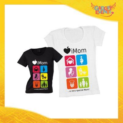 """Maglietta, t-shirt idea regalo festa della mamma """"iMom"""" - Gadget Eventi"""